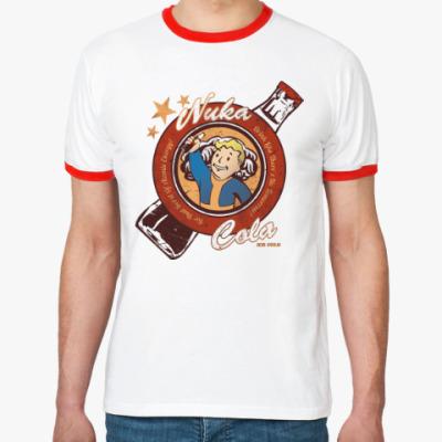 Футболка Ringer-T Fallout Nuka Cola Vault Boy