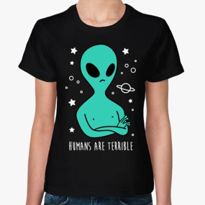 Женская футболка Люди ужасны!