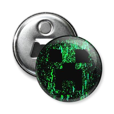 Магнит-открывашка Minecraft Creeper