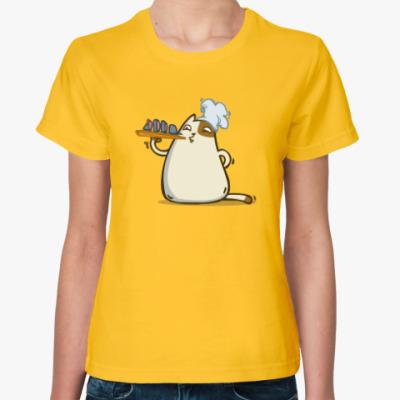 Женская футболка Пятничный Котик №25