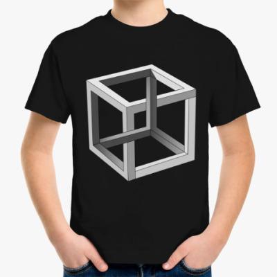 Детская футболка Невозможный Куб 3D