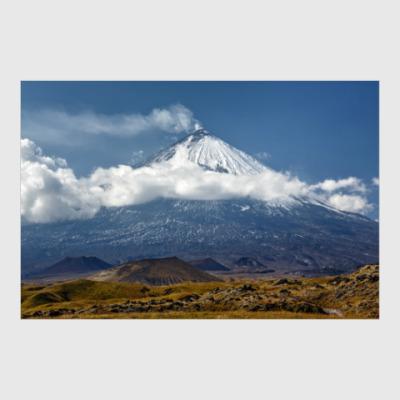 Постер Ключевской вулкан, Камчатка