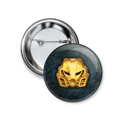 Значок 37мм Золотая маска Похату