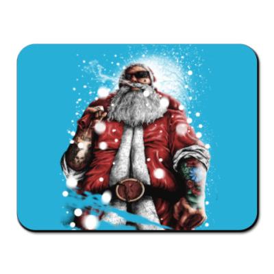 Коврик для мыши Четкий Санта Клаус с подарком