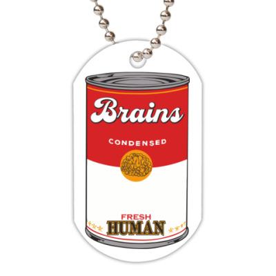 Жетон dog-tag BRAINS FRESH HUMAN