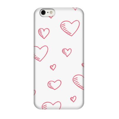 Чехол для iPhone 6/6s милые сердечки