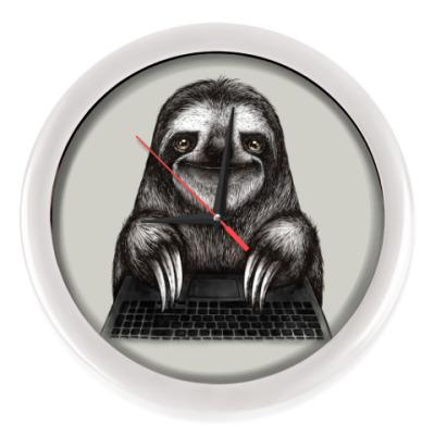 Настенные часы Ленивец компьютерный