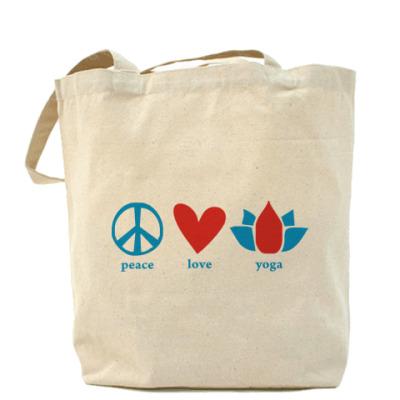 """Сумка  """"""""Peace, Love, Yoga"""""""""""