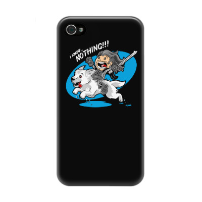Чехол для iPhone 4/4s I know nothing!