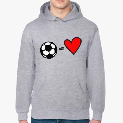 Толстовка худи В сердце только футбол