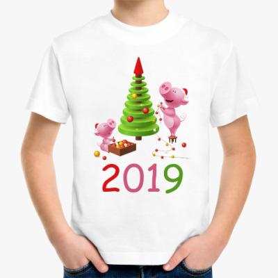 Детская футболка Свинья 2019