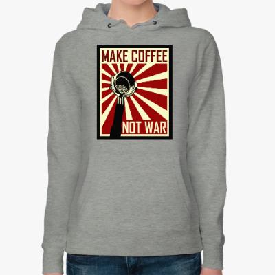 Женская толстовка худи Make Coffee Not War