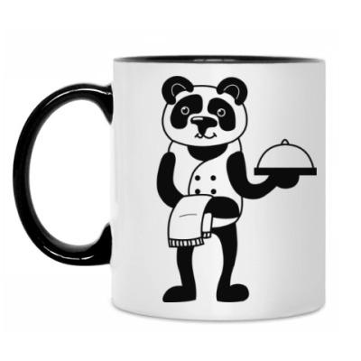 Кружка Панда официант