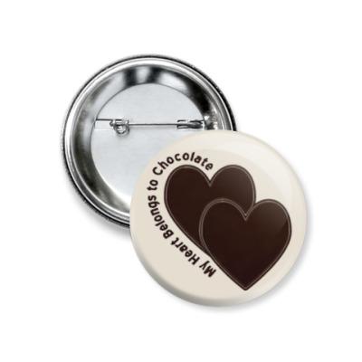 Значок 37мм Love chocolate
