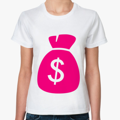 Классическая футболка доллары
