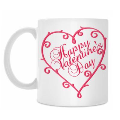 Кружка На 14 февраля Happy valentines day