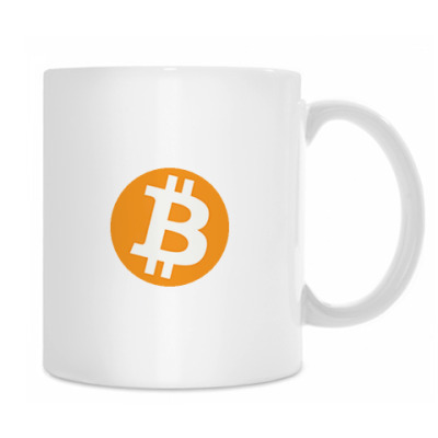Кружка Bitcoin белая