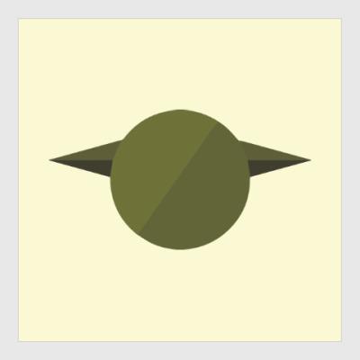 Постер Магистр Йода (Yoda) минимализм