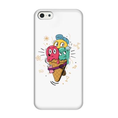 Чехол для iPhone 5/5s Смешные шарики мороженного