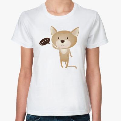 Классическая футболка  'oh hi.'