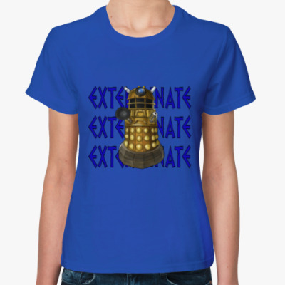Женская футболка Dalek EXTERMINATE Doctor Who