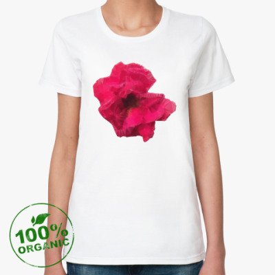 Женская футболка из органик-хлопка Роза