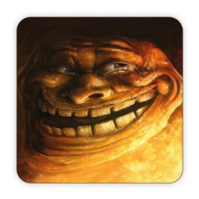 Костер (подставка под кружку) Troll face