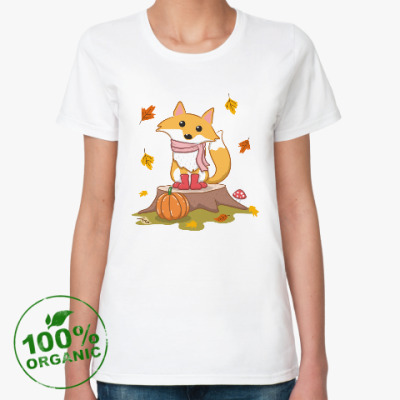 Женская футболка из органик-хлопка Autumn fox