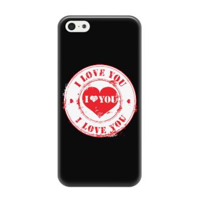 Чехол для iPhone 5/5s Печать I Love You