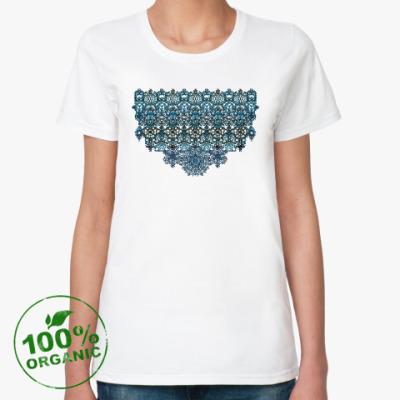 Женская футболка из органик-хлопка Ажур,кружево,узор,arabesque,мавританский