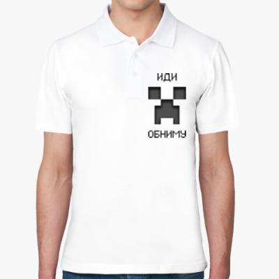 Рубашка поло Иди Обниму Minecraft Creeper