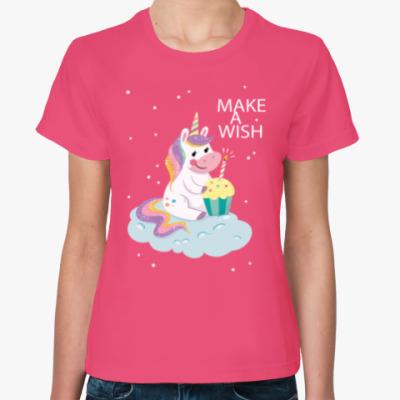 Женская футболка Make A Wish