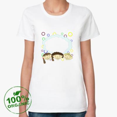 Женская футболка из органик-хлопка Детки
