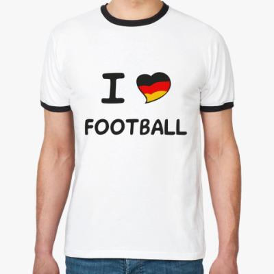 Футболка Ringer-T Я люблю немецкий футбол