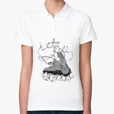 Женская рубашка поло  Let's Roll!