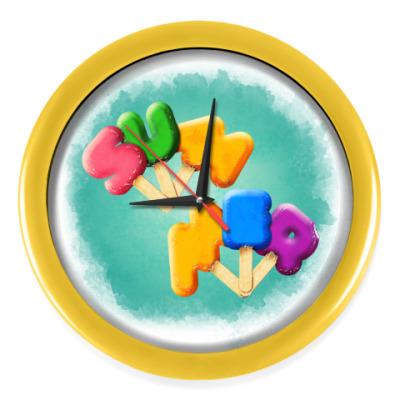 Настенные часы мороженое