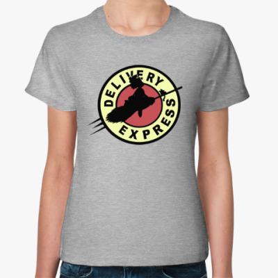 Женская футболка Ведьмина служба доставки