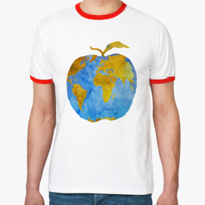 Футболка Ringer-T Apple Earth