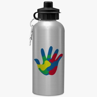 Спортивная бутылка/фляжка Отпечаток Руки