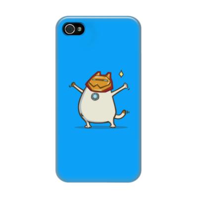 Чехол для iPhone 4/4s Айронкот — Пятничный Котик №32
