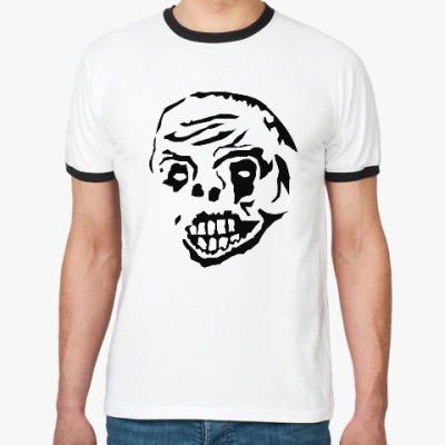 Футболка Ringer-T Zombie Face