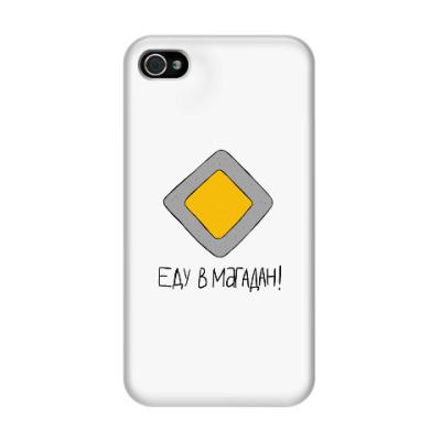 Чехол для iPhone 4/4s 'Еду в Магадан'