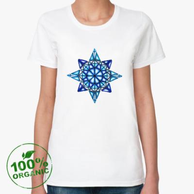 Женская футболка из органик-хлопка Калейдоскоп Январь