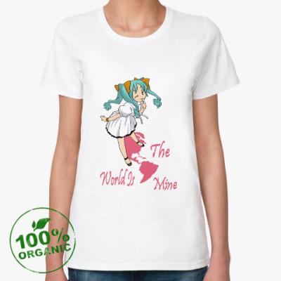 Женская футболка из органик-хлопка Мир мой