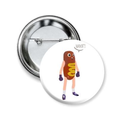 Значок 50мм Hot Dog Man