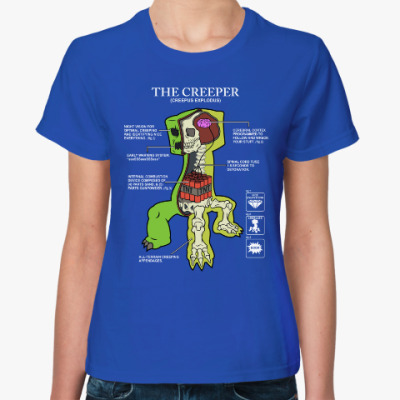 Женская футболка The Creeper