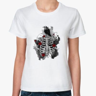 Классическая футболка Черный ворон