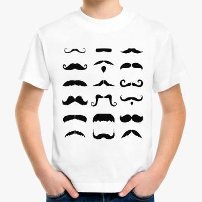 Детская футболка Усы