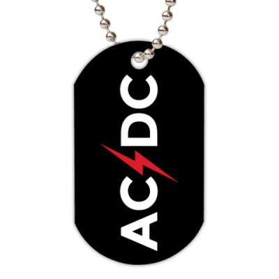 Жетон dog-tag AC/DC