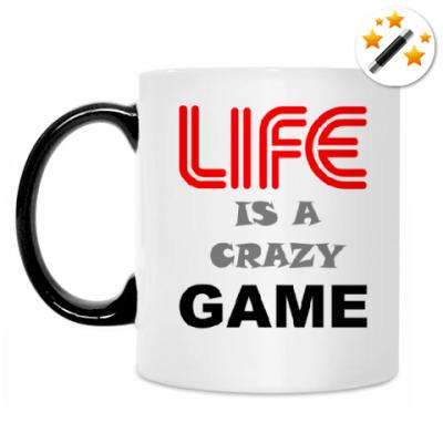 Кружка-хамелеон LIFE IS A CRAZY GAME